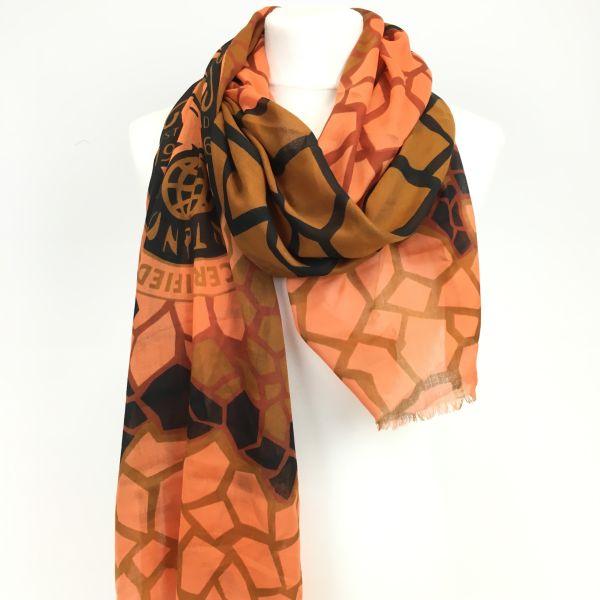 Konplott The Big 25 Halstuch in orange/ braun #5450543506388