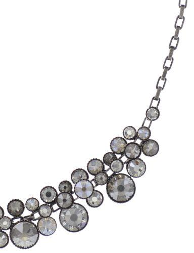 Konplott Water Cascade Halskette Collier in weiß antik silber #5450543686141