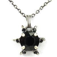 Konplott Petit Four de Fleur jet Halskette mit Anhänger klein, schwarz
