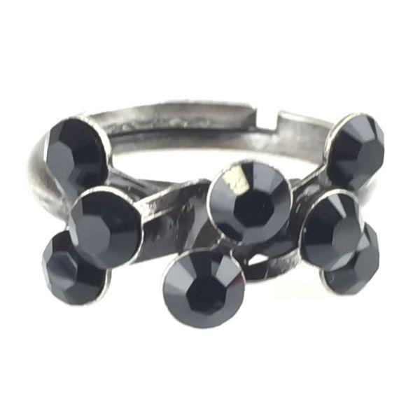 Konplott Magic Fireball 8 Stein Ring in jet, schwarz #5450527612210