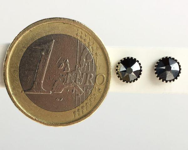 Konplott Black Jack Ohrstecker klein in black jet hematite, schwarz #5450527610230