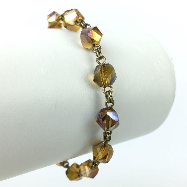 Konplott Pool-Side Flower braunes Armband verschließbar #5450543468129