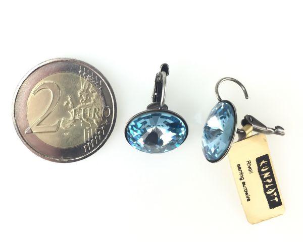 Konplott Rivoli aquamarine Ohrhänger mit Klappverschluss #5450527612890