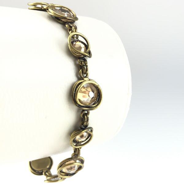 Konplott Sparkle Twist beiges Armband verschließbar #5450543078007