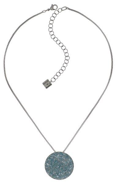 Konplott Studio 54 Halskette mit Anhänger in hellblau Silberfarben #5450543748443