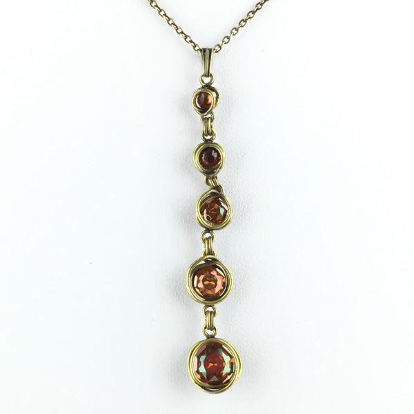 Konplott Sparkle Twist braune Halskette mit Anhänger lang #5450543131450
