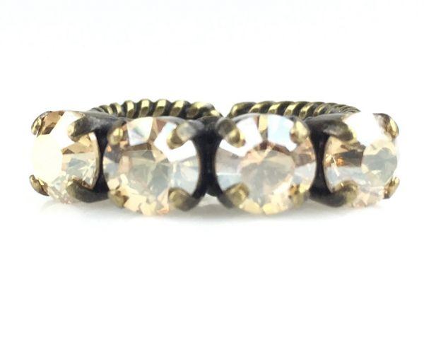 Konplott Colour Snake Ring in Crystal Golden Shadow #5450527610070