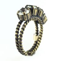 Konplott Colour Snake Ring in Black Diamond, kristall schwarz