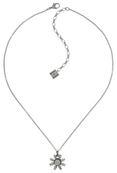 Konplott Spider Daisy Halskette mit Anhänger in weiß Größe S #5450543735719