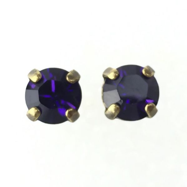 Konplott Black Jack Ohrstecker eckig in Purple Velvet, lila #5450527376013