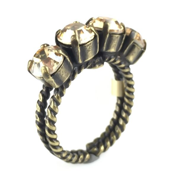 Konplott Colour Snake Ring in Crystal Golden Shadow #5450527610070
