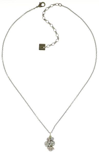 Konplott Petit Glamour Halskette mit Anhänger in weiß/beige #5450543682648