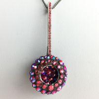Konplott Inside Out pinke Halskette mit Anhänger lang #5450543638676