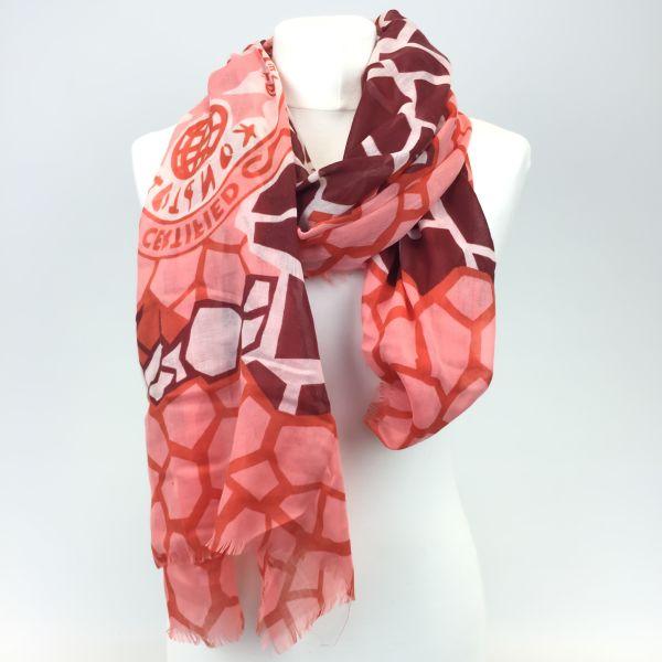 Konplott The Big 25 Halstuch in rosa/rot/koralle #5450543506357