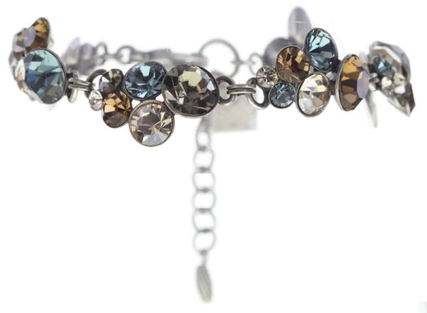 Konplott Petit Glamour Armband in blau/braun #5450543682570