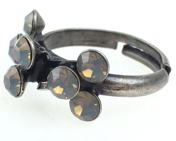 Konplott Magic Fireball 8 Stein Ring in light grey opal #5450527767422
