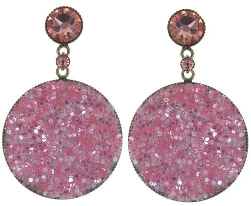 Konplott Studio 54 Ohrring in pink Messing Größe M #5450543748740
