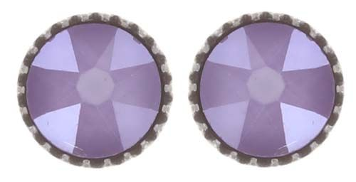 Konplott Black Jack Ohrstecker klassisch klein in lila crystal #5450543730752