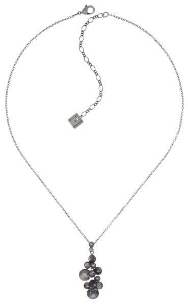 Konplott Water Cascade Halskette mit Anhänger in schwarz #5450543721484