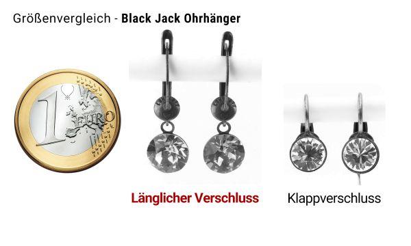 Konplott Black Jack Ohrhänger mit längl. Verschluss in Aquamarine, hellblau #5450527377263