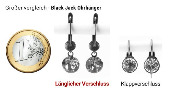 Konplott Black Jack Ohrhänger mit längl. Verschluss in Crystal #5450527420501