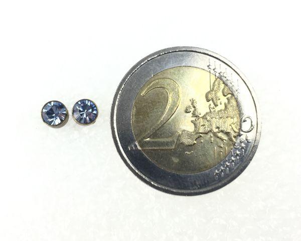 Konplott Black Jack Ohrstecker klassisch rund klein in Light Sapphire #5450527266550