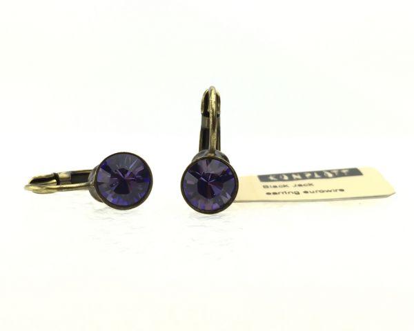 Konplott Black Jack Ohrhänger mit Klappverschluss in Tanzanite, violett #5450527110532