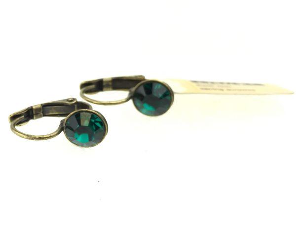 Konplott Black Jack Ohrhänger mit Klappverschluss in Emerald, dunkelgrün #5450527269124