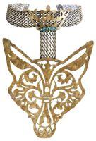 Konplott The Fox Choker Fuchs mit Krone gold, Steine blau/ grün #5450543693316