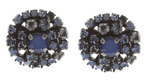 Konplott Ballroom Ohrstecker blau kristall #5450543642949