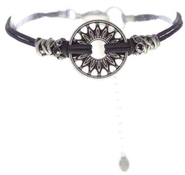Konplott Festival Armband in schwarz Silberfarben #5450543747293