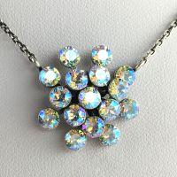 Konplott Magic Fireball white/brown crystal shimmer Halskette mit Anhänger #5450543644141