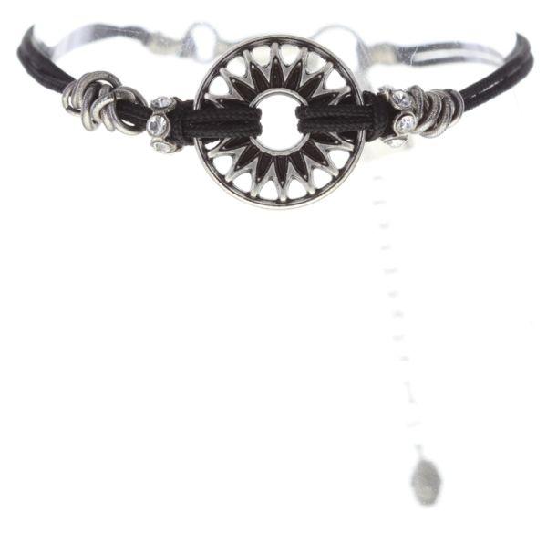 Konplott Festival Armband in schwarz/weiß Silberfarben #5450543747453