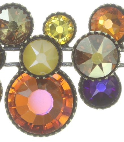 Konplott Water Cascade steinbesetzte Halskette in braun/orange #5450543754390