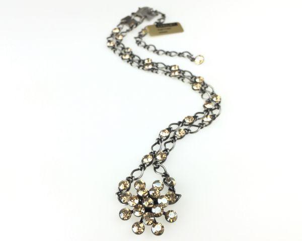 Konplott Magic Fireball Halskette steinbesetzt mit Anhänger in crystal golden shadow #5450527640039