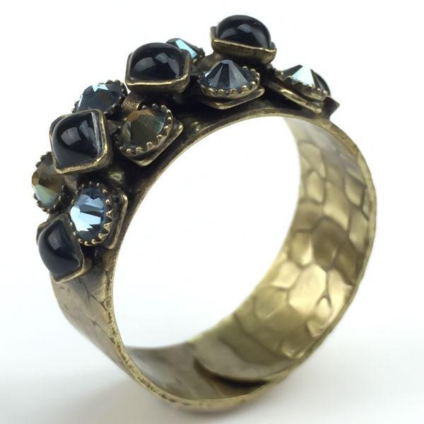 Konplott Arabic Nights schwarz/ grüner Ring klein #5450543270357