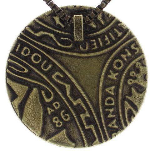 Konplott Studio 54 Halskette mit Anhänger in grün Messing #5450543748146