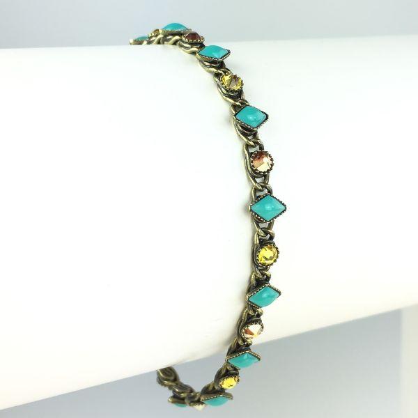 Konplott Arabic Nights gelb/grünes Armband verschließbar #5450543602936