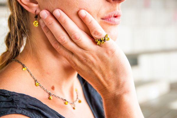 Konplott Tutui light topaz Halskette steinbesetzt, gelb #5450527641357