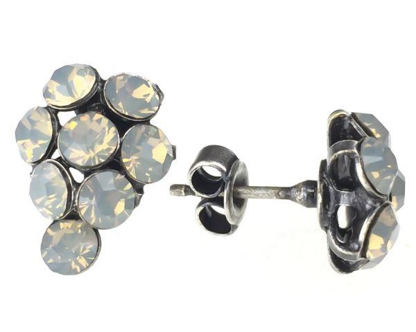 Konplott Magic Fireball Ohrstecker klassisch Traube in light grey opal #5450527767408