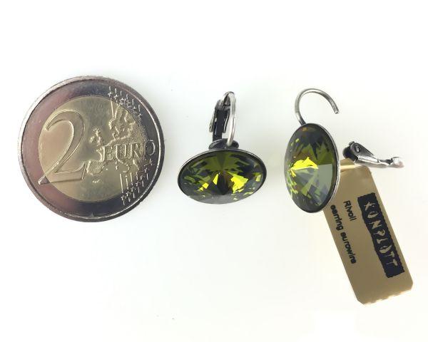 Konplott Rivoli olivine Ohrhänger mit Klappverschluss #5450527640817