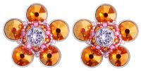Konplott Apple Blossom Ohrstecker braun/orange, rosa #5450543664477