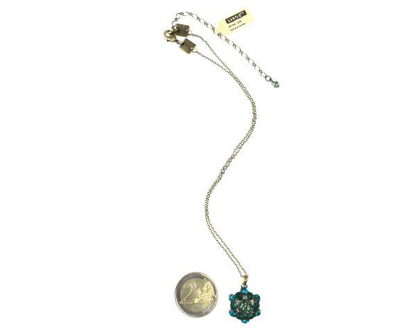 Konplott Bended Lights Halskette mit Anhänger in Blau/ Grün #5450527758864