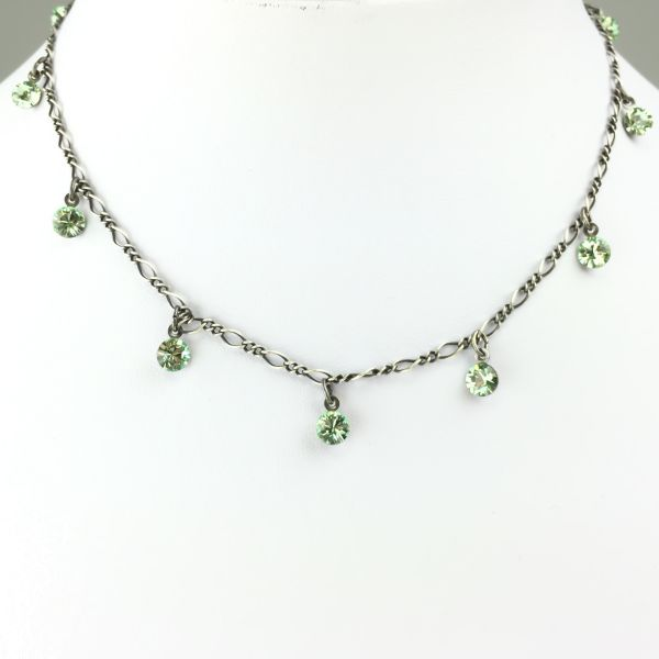 Konplott Tutui chrysolite Halskette steinbesetzt #5450527591683