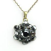 Konplott Bended Lights Halskette mit Anhänger in Schwarz