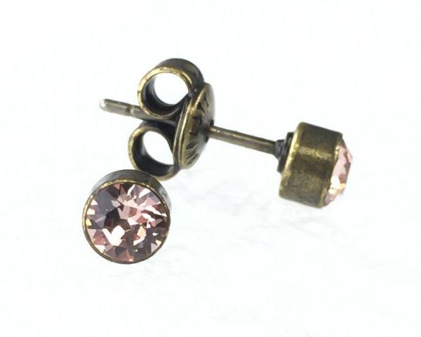 Konplott Black Jack Ohrstecker klassisch rund klein in vintage rose #5450527641791
