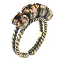 Konplott Colour Snake Ring in Smoked Topaz, braun