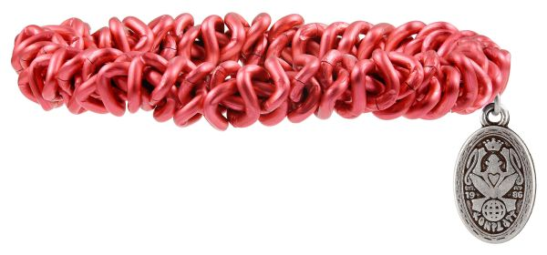 Bead Snakes elastisches Armband in Rot