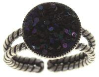 Konplott Studio 54 Ring in schwarz antik silber #5450543700656
