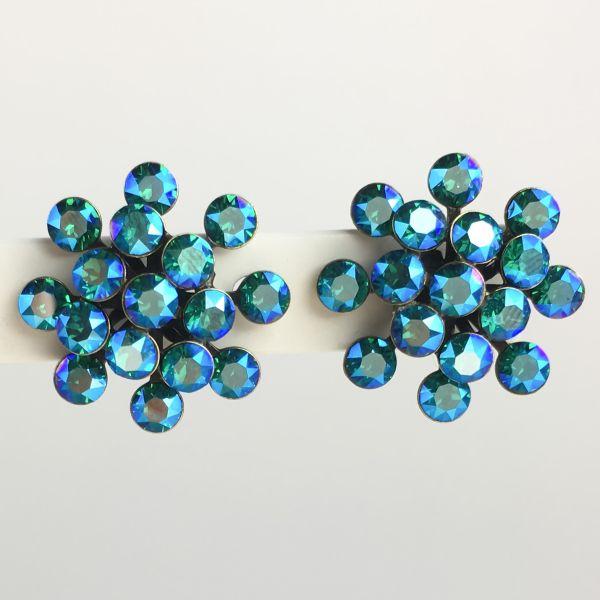 Konplott Magic Fireball blau/grüne Ohrstecker klassisch #5450543631264